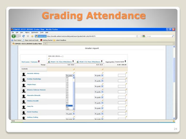 Grading Attendance