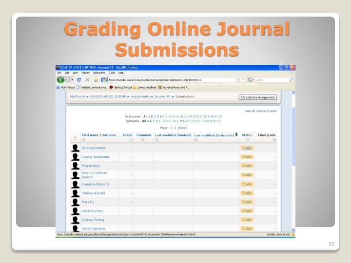 Grading Online