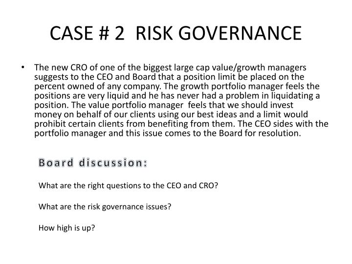 Case 2 risk governance