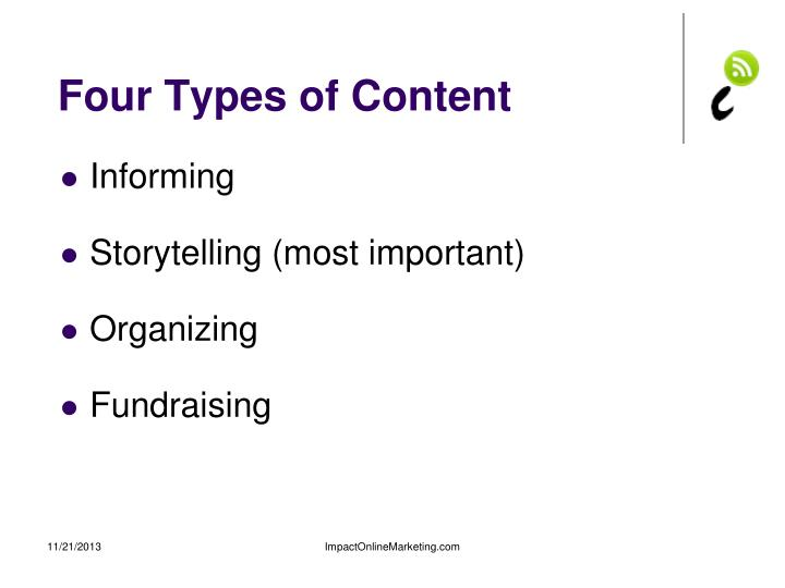 Four Types of Content