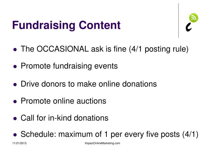 Fundraising Content