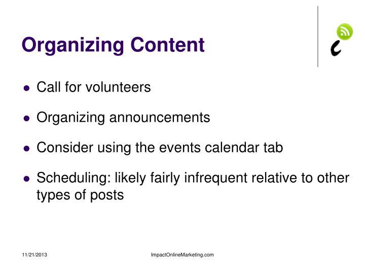 Organizing Content