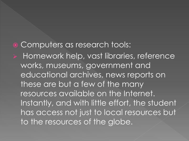 Computers as research tools: