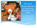 mr duck means business by tammi sauer illustrated by jeff mack