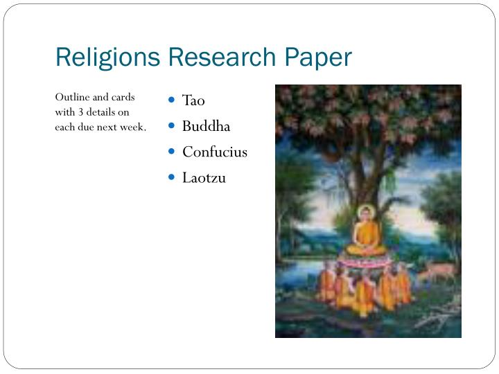 Religions Research Paper