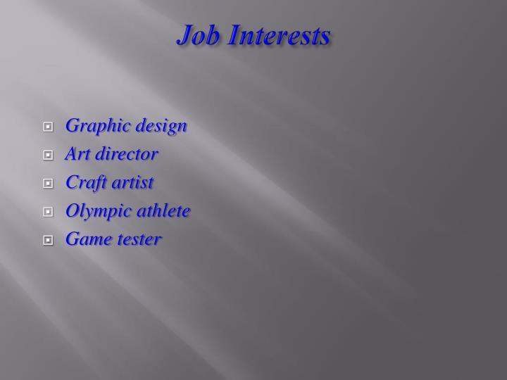 Job Interests