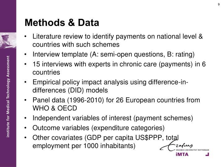 Methods & Data