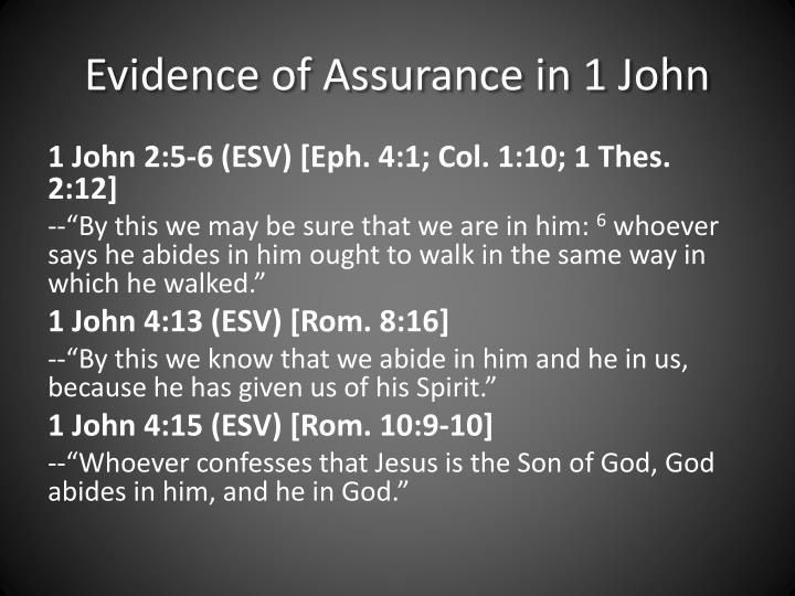 Evidence of Assurance in 1 John