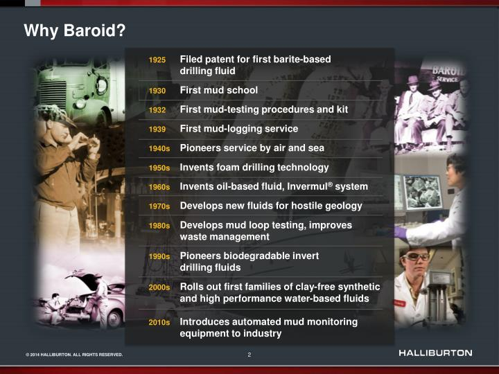 Why Baroid?