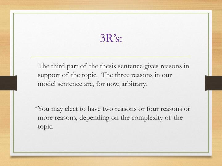 3R's: