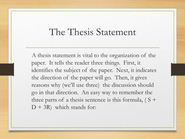 Thesis Statement For A Research Paper