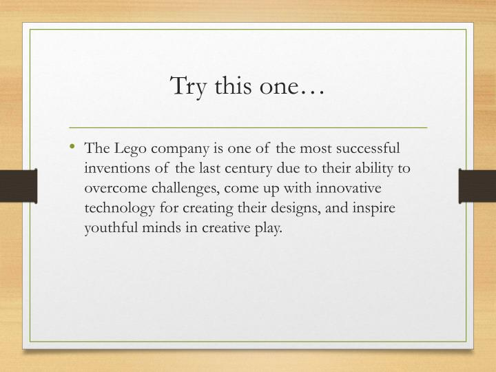 Try this one…