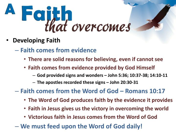 Developing Faith
