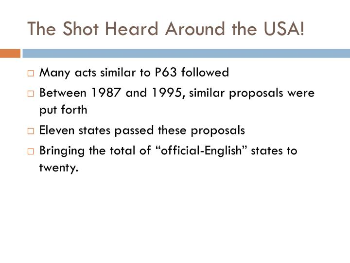 The Shot Heard Around the USA!