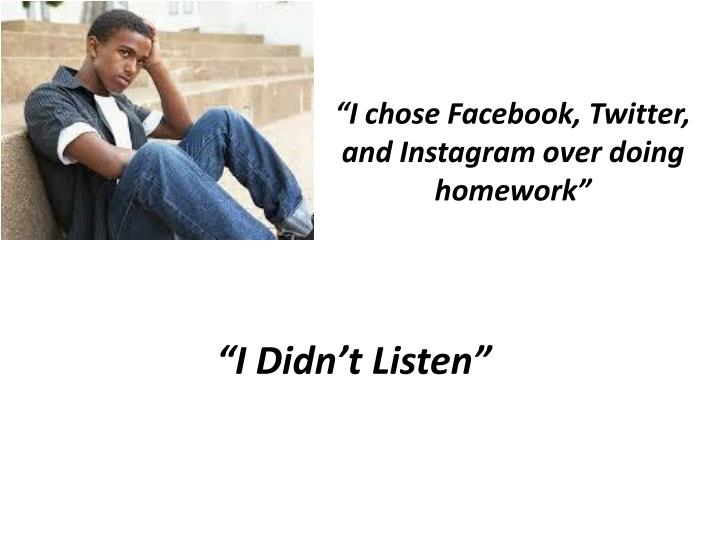 """""""I chose"""