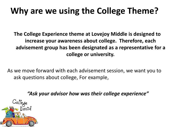 Why are we using the College Theme?