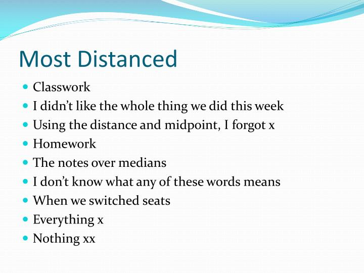 Most Distanced