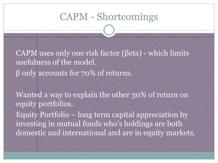 CAPM - Shortcomings