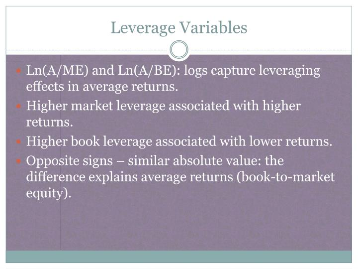 Leverage Variables