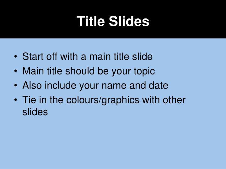 Title Slides