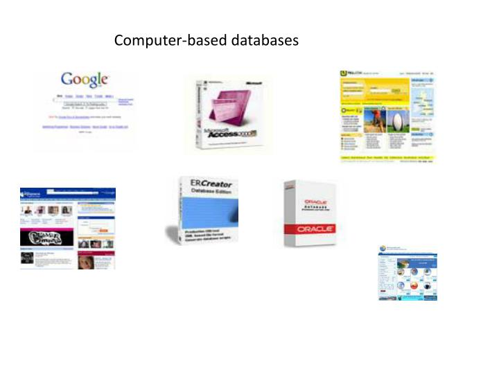Computer-based databases