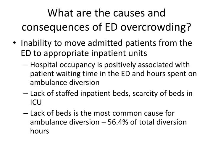 What are the causes and consequences of ED overcrowding?