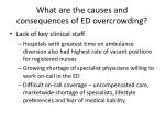 what are the causes and consequences of ed overcrowding1