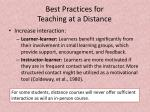 best practices for teaching at a distance5