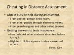 cheating in distance assessment1
