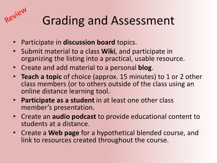 Grading and Assessment