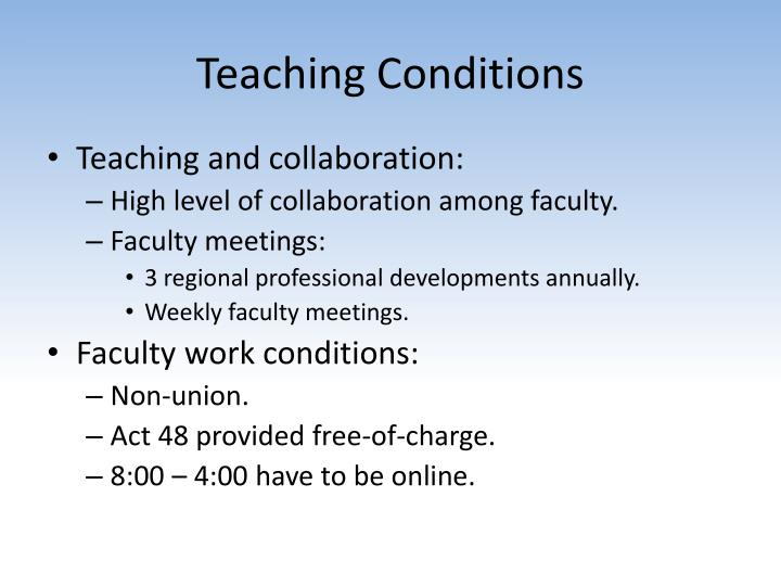 Teaching Conditions