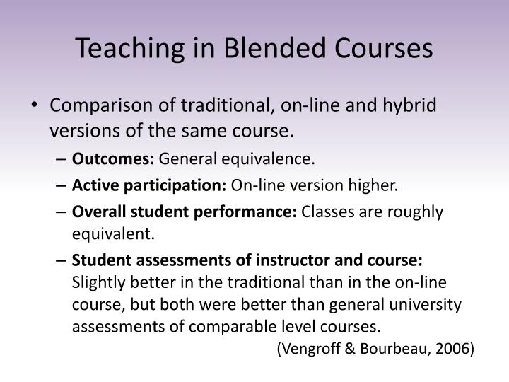Teaching in Blended Courses