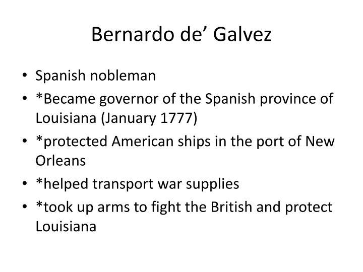 Bernardo de' Galvez