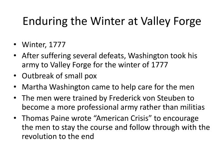 Enduring the Winter at Valley Forge