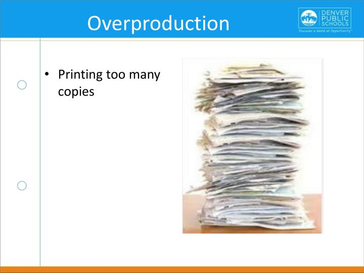 Overproduction