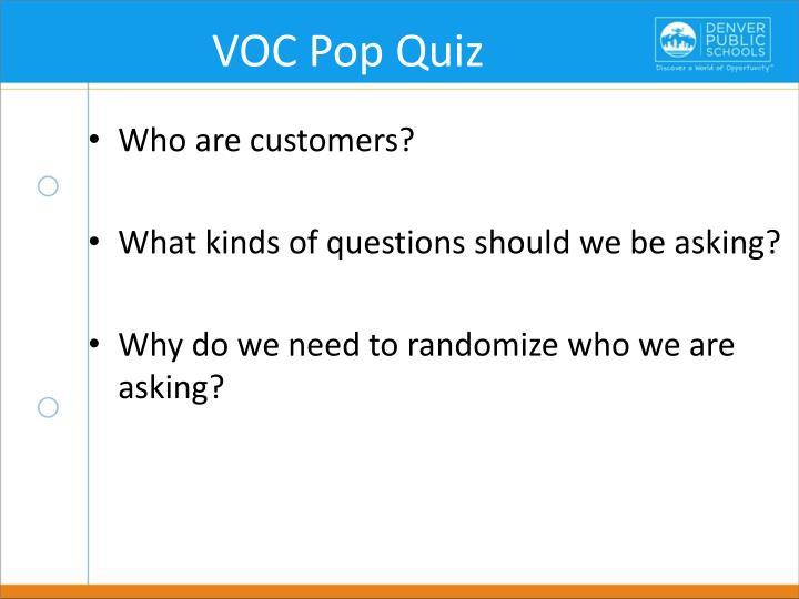 VOC Pop Quiz