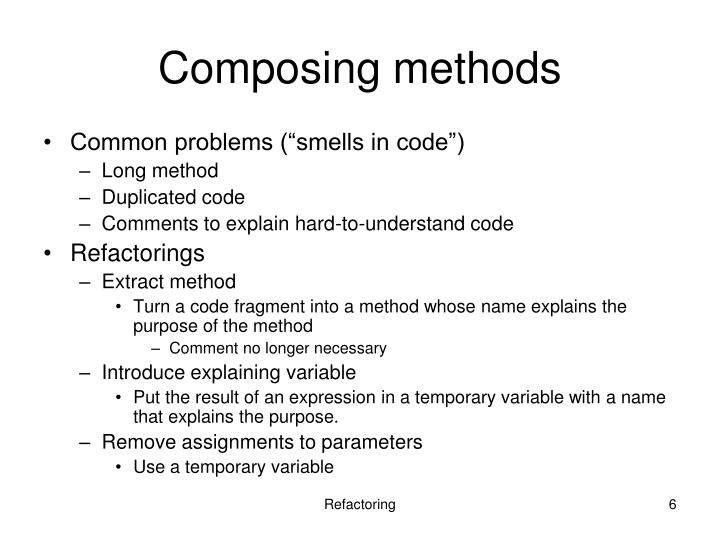 Composing methods