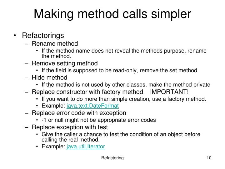 Making method calls simpler