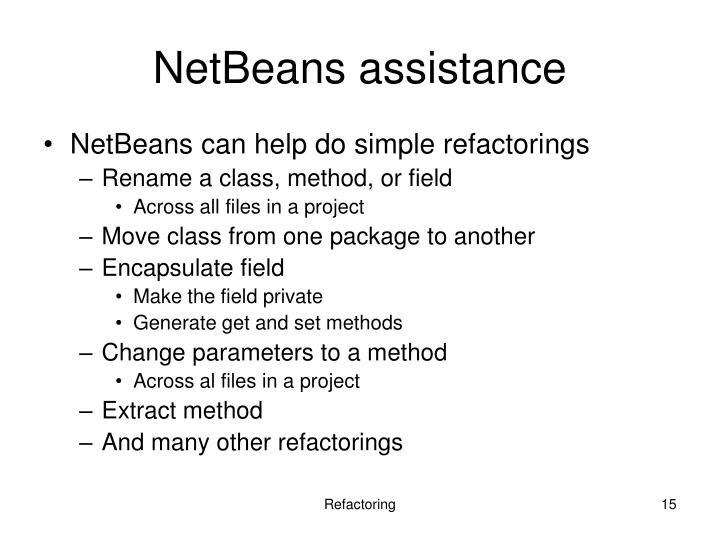 NetBeans assistance