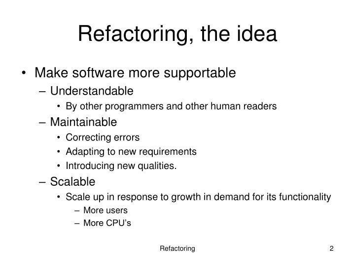 Refactoring, the idea
