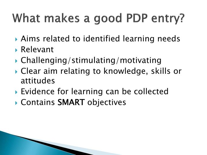 What makes a good PDP entry?