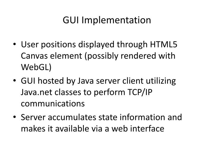 GUI Implementation