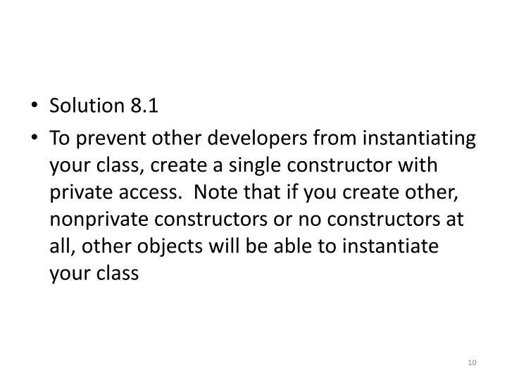 Solution 8.1