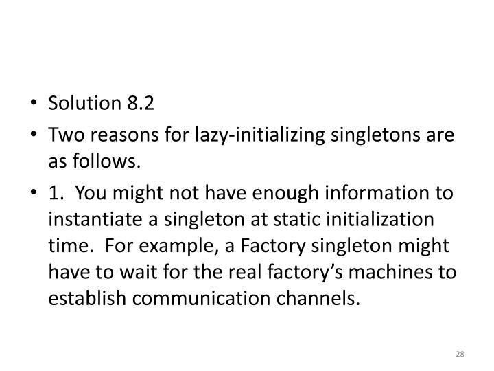 Solution 8.2