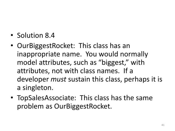 Solution 8.4