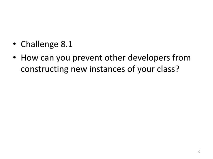 Challenge 8.1