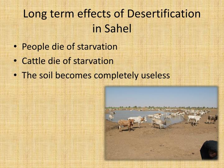 Long term effects of Desertification