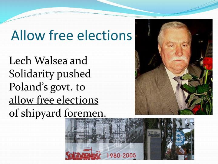 Allow free elections