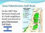 give palestinians self rule