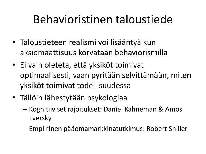 Behavioristinen taloustiede